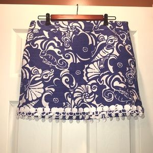 Lilly Pulitzer Marigold Skort with Lace trim
